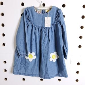 NEW Baby Boden Daisy Chambray Dres